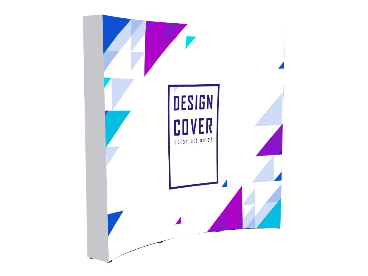 Fabric Pop Up Curved Display